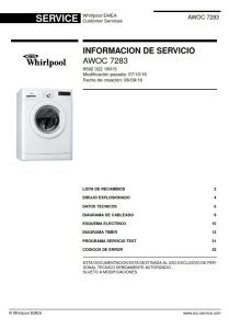 Whirlpool AWOC 7283 lavadora manual de servicio | eBooks | Technical