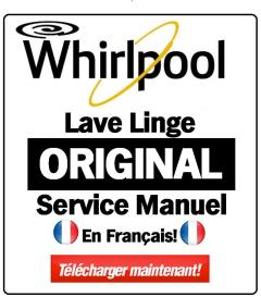 Whirlpool WWDE 8612 Lavante-s'chante Manuel de service | eBooks | Technical