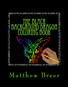 the black background dragon coloring book