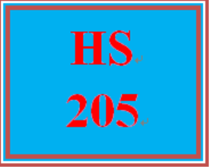 HS 205 Week 5 Final Course Reflection | eBooks | Education
