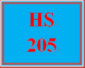 HS 205 Entire Course | eBooks | Education