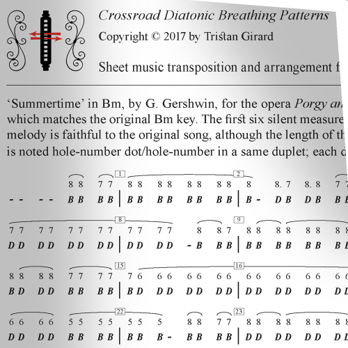 First Additional product image for - Crossroad Diatonic Breathing Patterns, Learning the Harmonica using Breathing Patterns, 2017