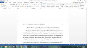 Write a cause/effect essay about YAO MING | Documents and Forms | Research Papers
