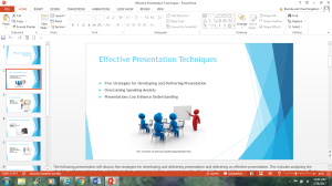 Effective Presentation Techniques | Documents and Forms | Presentations