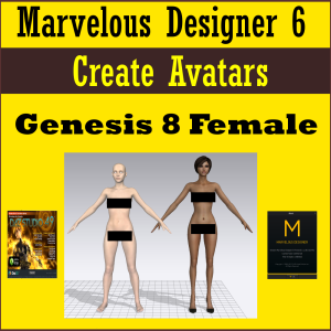 create marvelous designer 6 avatars: daz genesis 8 female (g8f)