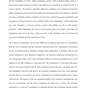 Texas Constitution research paper. 3 pages | Documents and Forms | Research Papers
