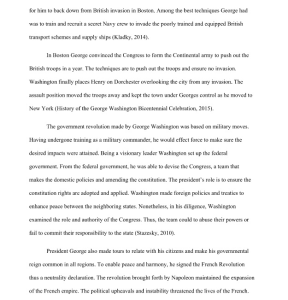 President George Washington Research Paper | Documents and Forms | Research Papers