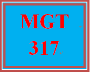 MGT 317 Week 5 Controlling the Workplace Environment | eBooks | Education