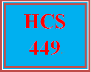 HCS 449 Week 5 Program: Self-Reflection | eBooks | Education