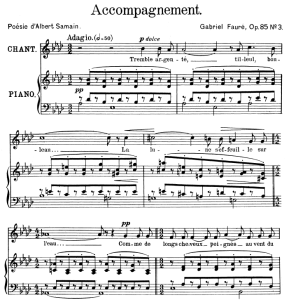 Accompagnement Op.85 No.3, High Voice in A-Flat Major, G. Fauré. For Soprano or Tenor. Ed. Leduc (A4) | eBooks | Sheet Music