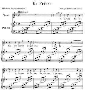 En prière, High Voice in F Major, G. Fauré. For Soprano or Tenor. Ed. Leduc (A4) | eBooks | Sheet Music