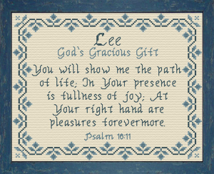 Name Blessings - Lee | Crafting | Cross-Stitch | Religious