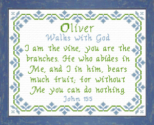 Name Blessings - Oliver 2 | Crafting | Cross-Stitch | Religious
