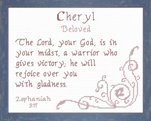 Name Blessings - Cheryl 2 | Crafting | Cross-Stitch | Religious