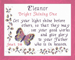 Name Blessings - Eleanor | Crafting | Cross-Stitch | Other