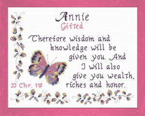 Name Blessings - Annie | Crafting | Cross-Stitch | Religious