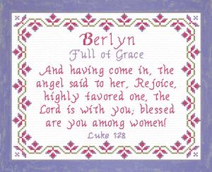Name Blessings - Berlyn | Crafting | Cross-Stitch | Religious