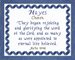 Name Blessings - Hayes | Crafting | Cross-Stitch | Religious