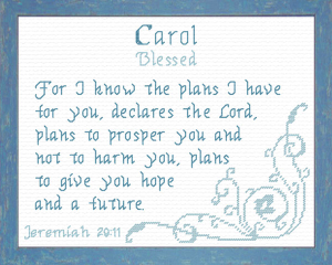 Name Blessings - Carol 2 | Crafting | Cross-Stitch | Religious