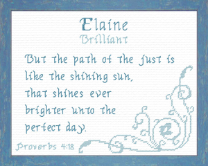 Name Blessings - Elaine 3 | Crafting | Cross-Stitch | Religious