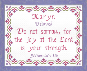 Name Blessings - Karyn | Crafting | Cross-Stitch | Religious