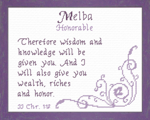 Name Blessings - Melba | Crafting | Cross-Stitch | Religious