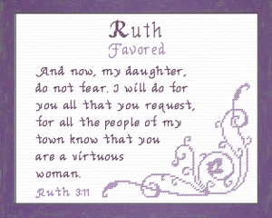 Name Blessings - Ruth 3 | Crafting | Cross-Stitch | Religious
