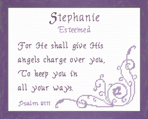 Name Blessings - Stephanie | Crafting | Cross-Stitch | Religious