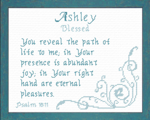 Name Blessings - Ashley | Crafting | Cross-Stitch | Religious