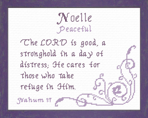 Name Blessings - Noelle | Crafting | Cross-Stitch | Religious