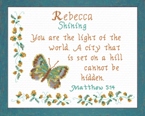 Name Blessings - Rebecca | Crafting | Cross-Stitch | Religious