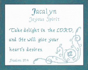 Name Blessings - Jacalyn | Crafting | Cross-Stitch | Religious