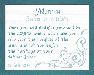 Name Blessings - Monica | Crafting | Cross-Stitch | Religious