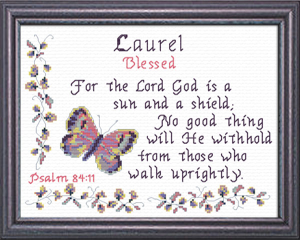 Name Blessings - Laurel | Crafting | Cross-Stitch | Religious