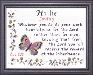 Name Blessings - Hallie | Crafting | Cross-Stitch | Religious