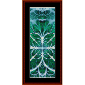 fractal 620 bookmark cross stitch pattern by cross stitch collectibles