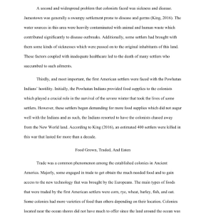 The First American Settlers 4 page paper | Documents and Forms | Research Papers