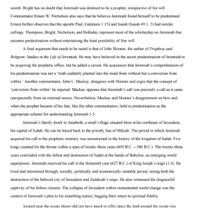 Exegetical evaluation of jeremiah 3 pages | Documents and Forms | Research Papers