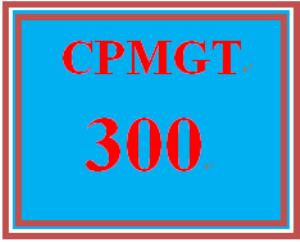 CPMGT 300 Week 1 Project Charter | eBooks | Education