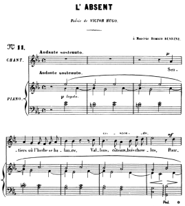 L'absent Op.5 No 3, High Voice in C minor, G. Fauré. For Soprano or Tenor. Ed. Leduc (A4)   eBooks   Sheet Music