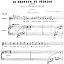 La chanson du pêcheur Op.4 No.1, High Voice in A minor, G. Fauré. For Soprano or Tenor. Ed. Leduc (A4)   eBooks   Sheet Music