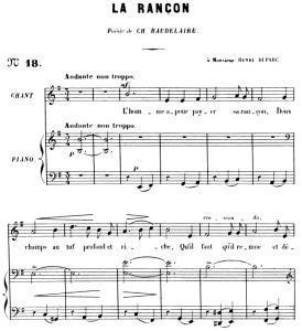 La rançon Op.8 No.2, High Voice in E minor, G. Fauré. For Soprano or Tenor. Ed. Leduc (A4) | eBooks | Sheet Music