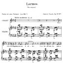 Larmes Op.51 No.1, High Voice in C minor, G. Fauré. For Soprano or Tenor. Ed. Leduc (A4) | eBooks | Sheet Music