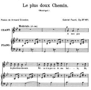Le plus doux chemin Op.87 No.1, High Voice in G minor, G. Fauré. For Soprano or Tenor. Ed. Leduc (A4) | eBooks | Sheet Music