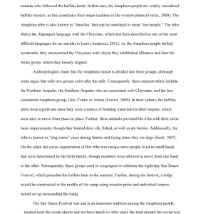 Arapaho Tribe Research Paper 8 pages | Documents and Forms | Research Papers