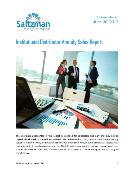 First Additional product image for - Institutional Distributor Annuity Sales Report