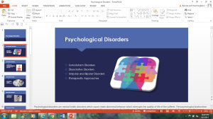 Psychological disorders | Documents and Forms | Research Papers