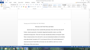 Policemen of the world thesis and outline | Documents and Forms | Research Papers