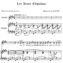 Les roses d'Hispahan Op.39 No.4, High Voice in E Major, G. Fauré. For Soprano or Tenor.  Ed. Leduc (A4) | eBooks | Sheet Music