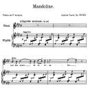 Mandoline Op.58 No.1, High Voice in A-Flat Major, G. Fauré. For Soprano or Tenor. Ed. Leduc (A4) | eBooks | Sheet Music